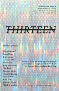 "PNCA VS Thesis Group Show ""Thirteen"" Opening"